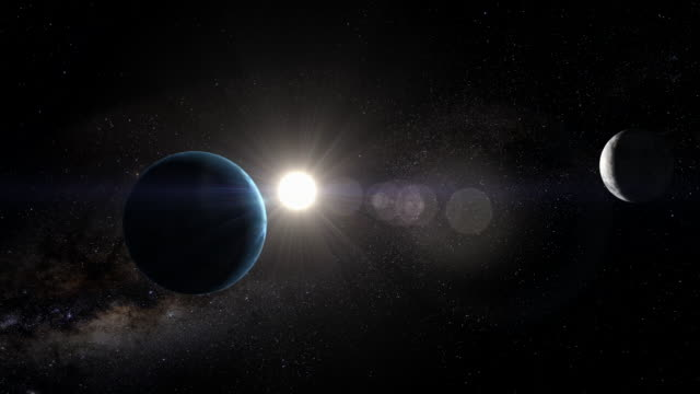 gfx earth with sun beyond - solar system stock videos & royalty-free footage