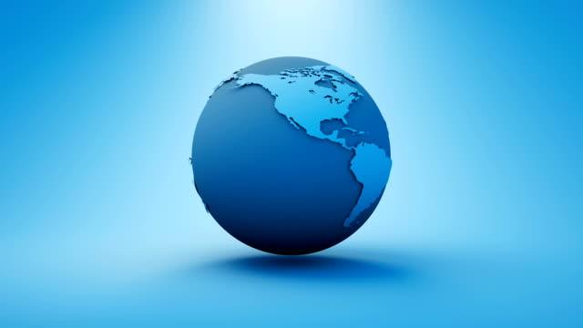 vidéos et rushes de carte du monde de la terre faite dans l'infographie graphics clean render - image contrastée