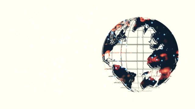 vídeos de stock e filmes b-roll de earth world map made in computer graphics clean render - alto contraste