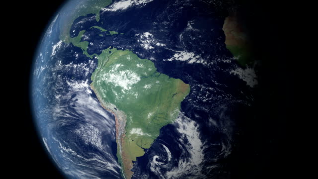earth zoom centered on brazil  (with alpha matte) - brazil stock videos & royalty-free footage