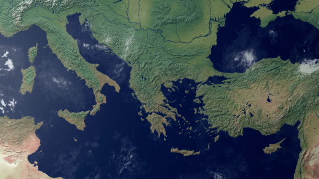 earth  zoom centered on central italy (with alpha matte) - mediterranean culture stock videos & royalty-free footage