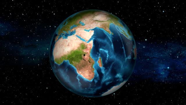 Earth Zoom In - Democratic Republic of the Congo - Kinshasa