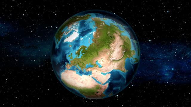 Earth Zoom In - Lithuania - Vilnius