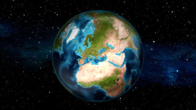 Earth Zoom In - Spain - Madrid