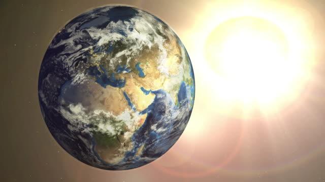 Jorden - zooma in till Nordamerika