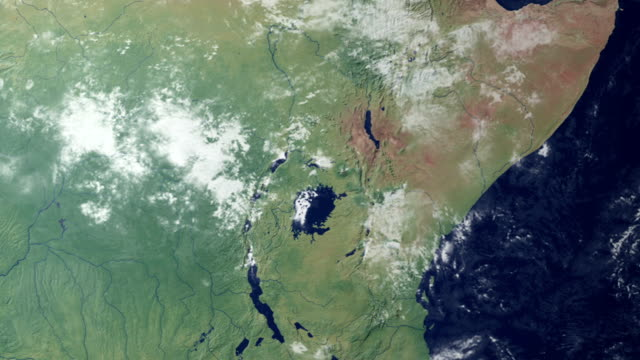 Earth zooming in on… Kenia (with alpha matte)