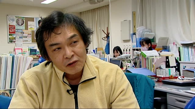 interview with nuclear scientist professor kenzo munakata japan tokyo ext professor kenzo munakata interview sot compares radiation levels to those... - 化石燃料点の映像素材/bロール