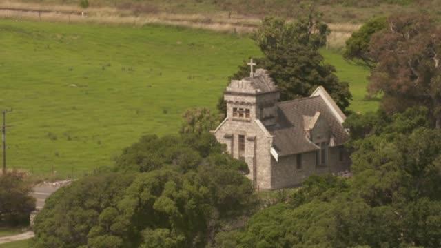 earthquake damaged st oswald's memorial church at wharanui near kaikoura. - kaikoura stock videos & royalty-free footage