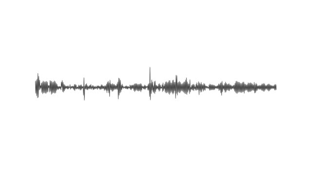 earthquake sound waves - white background stock videos & royalty-free footage