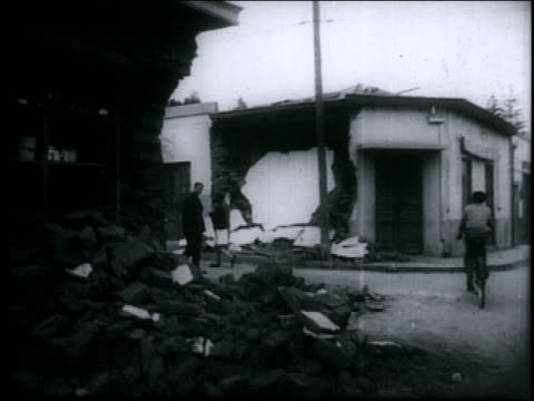 / earthquake strikes chile, causing deaths and extensive damage in santiago, valparaiso and surrounding towns. - 1965 stock videos & royalty-free footage
