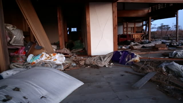 earthquake wreckage in japan - earthquake stock videos and b-roll footage
