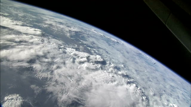 earth's limb with clouds - satellite stock videos & royalty-free footage