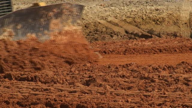 earthwork - bulldozer stock videos and b-roll footage
