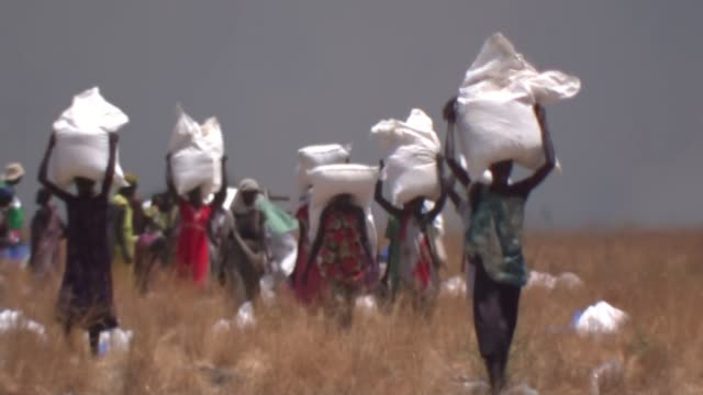 east africa on brink of humanitarian crisis / un warning over famine in region; t09031713 / tx 9.3.2017 south sudan: ganyiel: ext various shots of... - somalia stock videos & royalty-free footage
