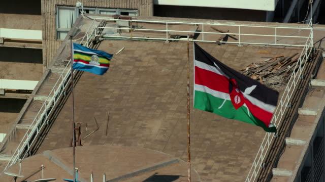 East African Comunity & Kenyan National Flag Nairobi  Kenya  Africa