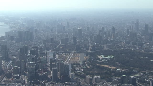 AERIAL, East And South Side Of Imperial Palace, Tokyo, Japan