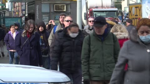 east asian people in new york wear hospital masks as they wander through the city on january 30, 2020 at chinatown in new york. - chinatown stock videos & royalty-free footage