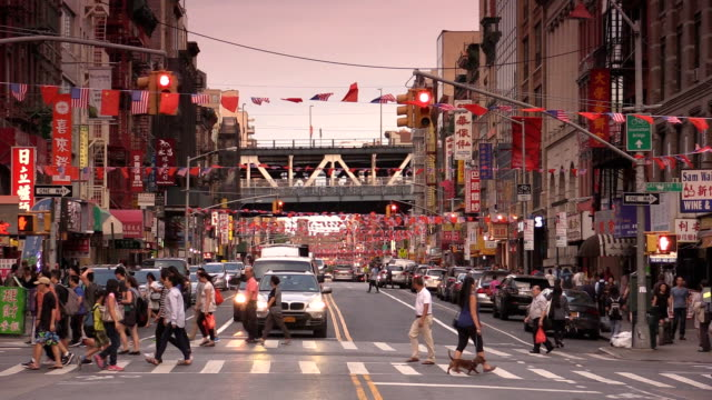 east broadway chinatown in new york city - immigrant stock videos & royalty-free footage