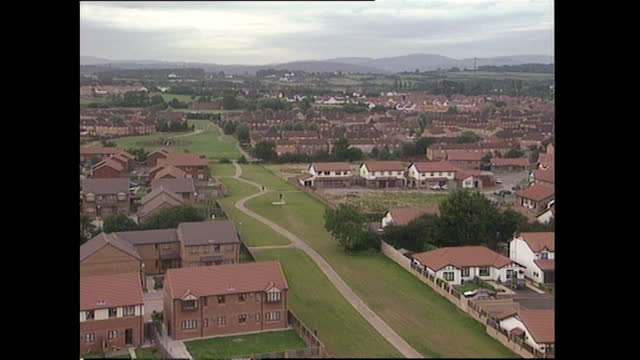has east cardiff housing estate; 1994 - horizon over land stock videos & royalty-free footage