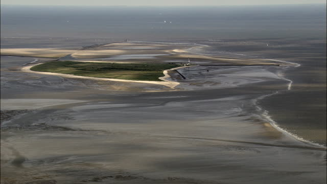 east frisian islands and sand bars  - aerial view - lower saxony,  germany - north sea stock videos & royalty-free footage