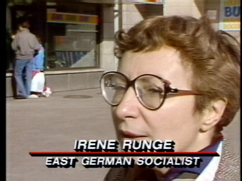 east german socialist irene runge explains the monetary habits of west germans - business or economy or employment and labor or financial market or finance or agriculture stock-videos und b-roll-filmmaterial