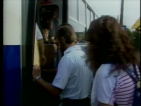 east germans board trains to cross the hungarian border - traditionally hungarian stock videos & royalty-free footage
