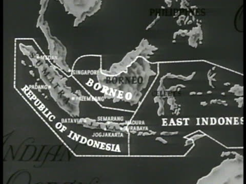 map east indies animated areas 'republic of indonesia borneo east indonesia' - indonesia map stock videos & royalty-free footage