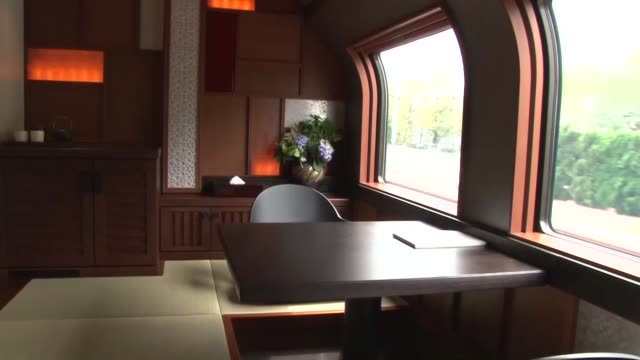 east japan railway co's new luxury sleeper train providing a cruise experience with a modern japanese taste is nearing its may 1 debut with operator... - tatami mat stock videos and b-roll footage