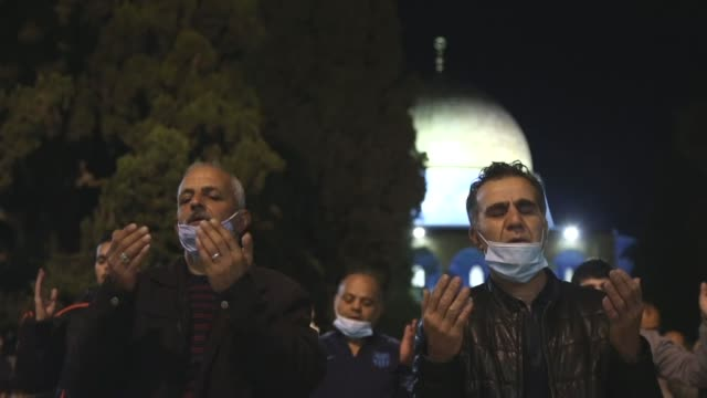 east jerusalem's al-aqsa mosque was reopened on sunday after more than two months of closure due to the coronavirus pandemic. muslims entered the... - jerusalem stock videos & royalty-free footage