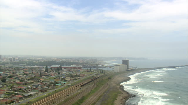 east london  - aerial view - eastern cape,  buffalo city metropolitan municipality,  buffalo city,  south africa - east london stock videos and b-roll footage