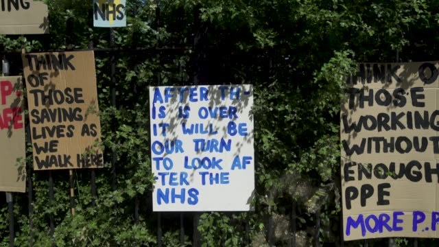east london artist peter liversidge creates signs to support key workers during the coronavirus on may 27 2020 in london england the british... - addition key stock videos & royalty-free footage