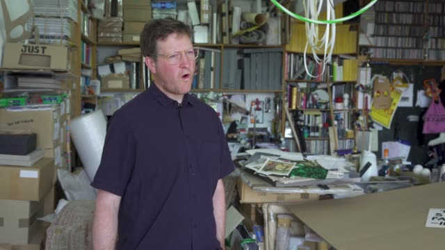 interview east london artist peter liversidge creates signs to support key workers during the coronavirus on the angative reaction from some members... - addition key stock videos & royalty-free footage