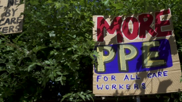 east london artist, peter liversidge creates signs to support key workers during the coronavirus on may 27, 2020 in london, england the british... - repetition stock videos & royalty-free footage