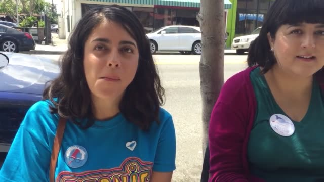 interviews with bernie sanders supporters: vanessa garcia,nadine diaz, and betty garcia - mos stock videos & royalty-free footage