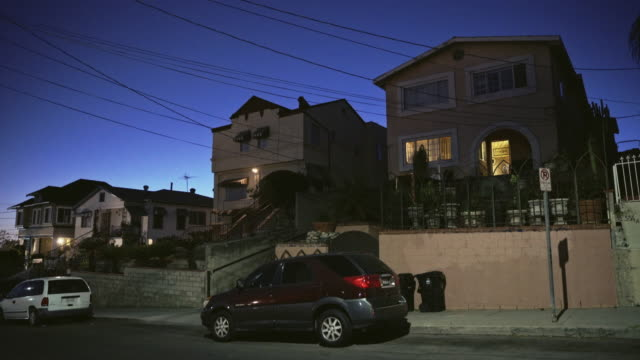 east los angeles multi family homes - night - complexity stock videos & royalty-free footage