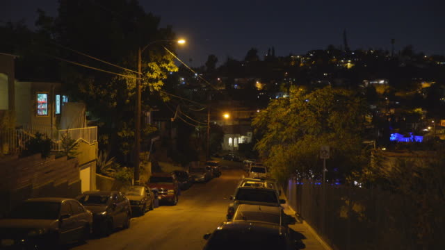 east los angeles neighborhoods - night - abwesenheit stock-videos und b-roll-filmmaterial