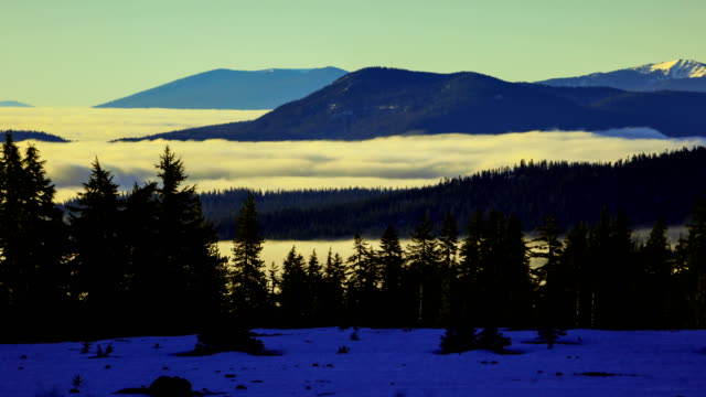 east oregon landscape near crater lake - crater lake oregon stock videos & royalty-free footage