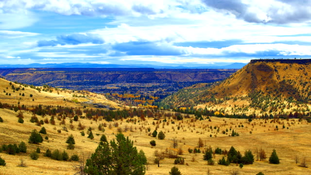 クレーター湖の近くの東オレゴン州風景 - オレゴン州クレーター湖点の映像素材/bロール