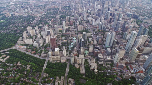 vidéos et rushes de aerial east part of the downtown toronto (ontario) - toronto