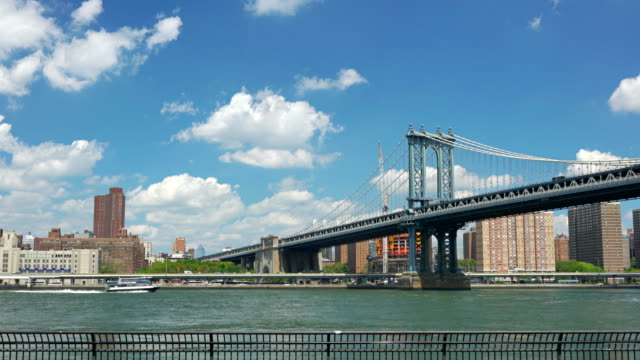 East River Ferry boat and Manhattan bridge