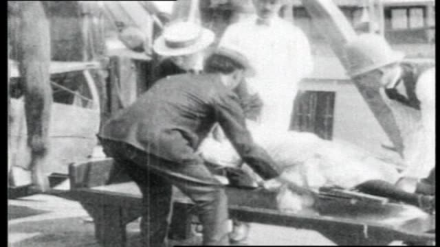 east river new york city bodies being recovered from the water after the excursion vessel general slocum exploded and capsized in hell gate killing... - 1904 stock videos & royalty-free footage
