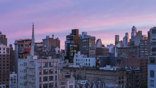 east village sunrise time lapse - new york - roof stock videos & royalty-free footage