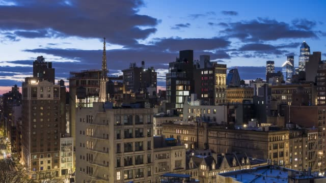 east village sunset skyline time lapse - new york - architectural feature stock videos & royalty-free footage