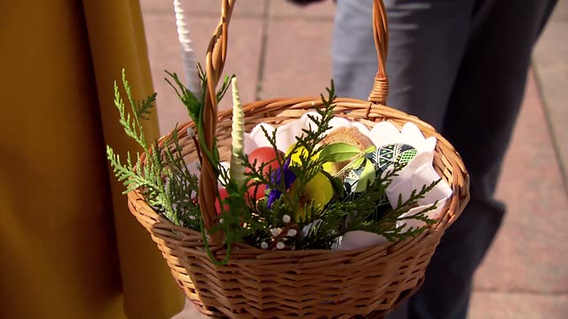 easter basket - decoration stock videos & royalty-free footage