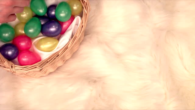 easter basket (hd,ntsc) - soft blanket stock videos and b-roll footage