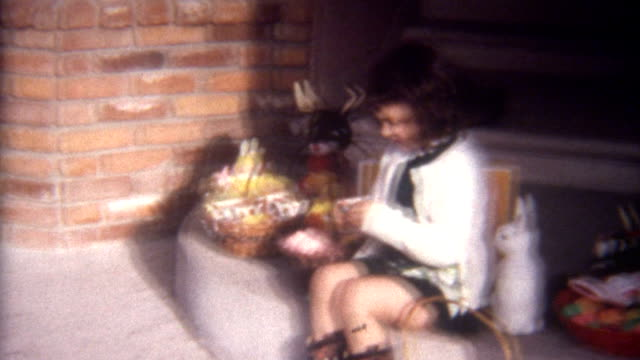 easter display 1960's - rabbit animal stock videos and b-roll footage