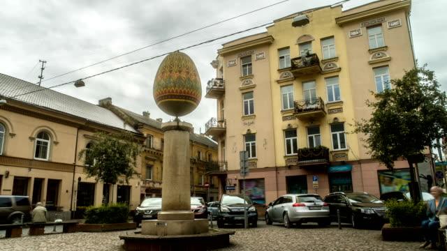 Easter Egg Sculpture in Vilnius Lithuania