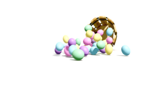 easter egg spill - easter stock videos & royalty-free footage