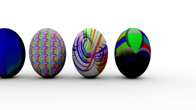 easter eggs animation clean - medium group of objects stock videos & royalty-free footage