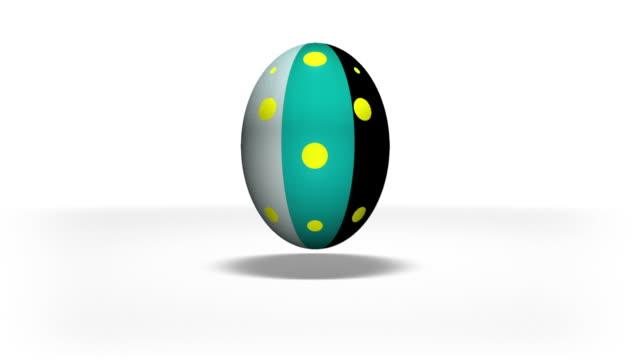 stockvideo's en b-roll-footage met easter eggs animation - easter